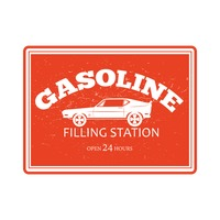 Gasoline filling station sign