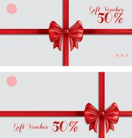 Gift vouchers with ribbon