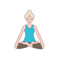 Girl practising yoga in lotus pose