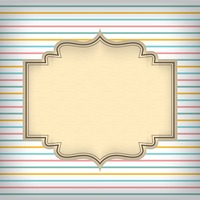 Greeting card template design