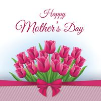Happy mothers day card with tulips