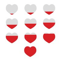 Popular : Infographic heart elements