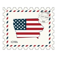 Iowa postage stamp