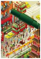 Isometric china town