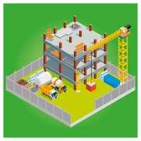 Isometric construction site