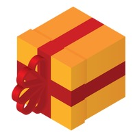 Popular : Isometric gift box