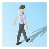 Popular : Isometric of a security guard