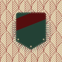 Popular : Label on retro background