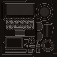 Popular : Laptop and accessories flatlay design