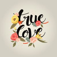 Love typography design