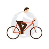 Man riding cycle