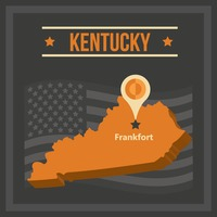 Map of kentucky state