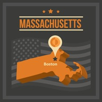 Map of massachusetts state
