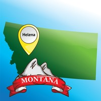 Map of montana state with mountain