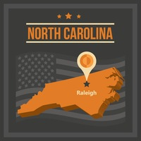 Map of north carolina state