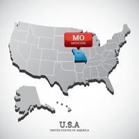 Map Maps State States Location Pin Usa America Map Pointer Missouri - Us-map-with-missouri