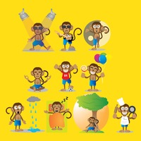 Popular : Monkey with different actions