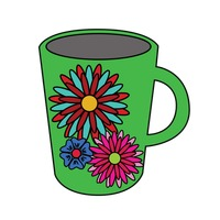 Popular : Mug with floral pattern