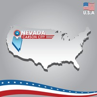 Popular : Navigation pointer indicating nevada on usa map