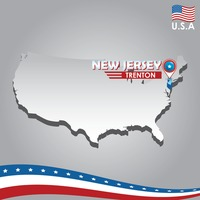 Popular : Navigation pointer indicating new jersey on usa map