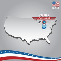 Popular : Navigation pointer indicating ohio  on usa map