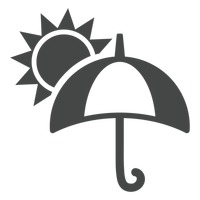 Popular : Open umbrella and sun