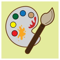 Popular : Paint palette with brush