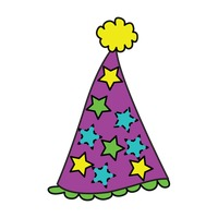 Popular : Party hat on white background