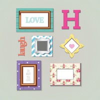 Photo frames set