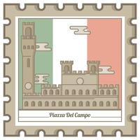 Popular : Piazza del campo postal stamp