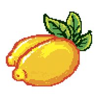 Pixelated lemon