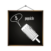 Popsicle with dollar sign in speech bubble