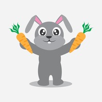 Popular : Rabbit holding carrot