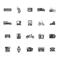Retro technology icons