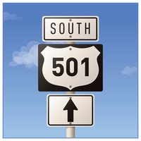 Popular : Route five hundred and one road sign