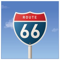 Popular : Route sixty-six road sign