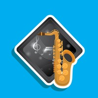 Popular : Saxophone label