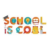 School is cool lettering design