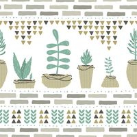 Popular : Seamless succulent design