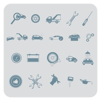 Set of automobile items
