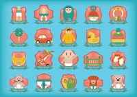 Set of baby shower icons