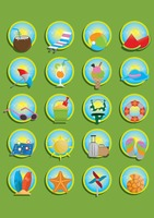 Popular : Set of beach icons