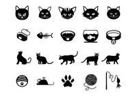 Popular : Set of cat icons