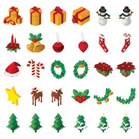 Popular : Set of christmas icons