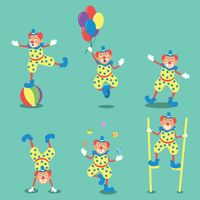 Set of clown icons