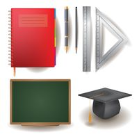 Set of educational items