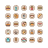 Set of food and beverages icons