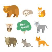 Set of forest animal icons