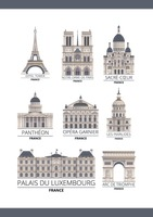 Set of france monuments