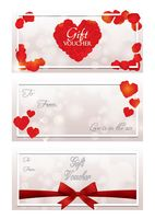 Set of gift voucher template design